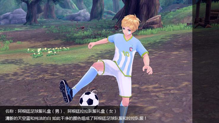 阿根廷足球服礼盒(男)、阿根廷拉拉队服礼盒(女)