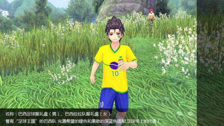 巴西足球服礼盒(男)、巴西拉拉队服礼盒(女)