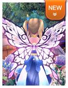 背饰·透明皎月蝶翼
