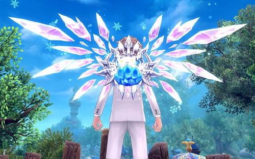胖胖的雪精是《幻想神域》二次元冬天的使者,可爱的粉色小雪精舞动起