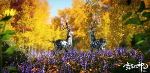 温顺灵动的鹿蜀