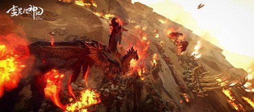 拥有宽大羽翼的神兽赤火凤