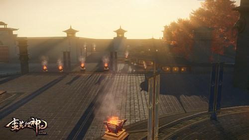 日暮黄昏下的日华城瓮城