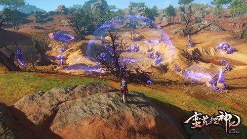 不远处紫色光圈即将开启的秘境