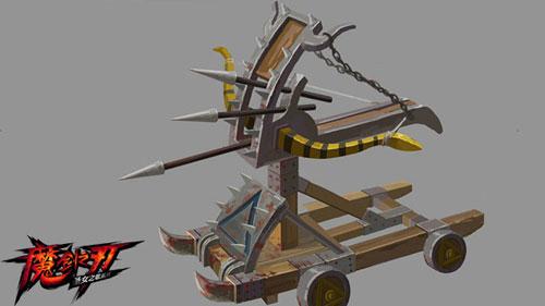 手绘战场-攻城弩车