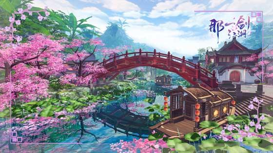 小月村之景--桃花灼灼,小桥流水