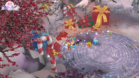 极具圣诞气息的副本内部装饰