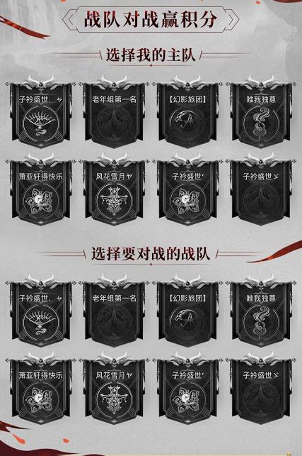 图2:选择战队