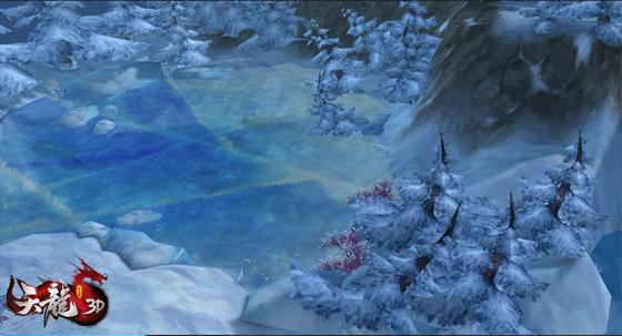 长白山冰湖