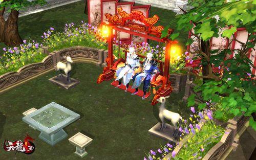 双人秋千,和心仪的伴侣坐上秋千,静享受时光(坏笑,看图,你懂的)