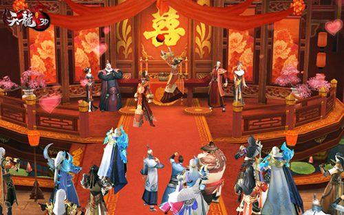 新娘礼堂抛掷花球,在场宾客欢乐抢夺
