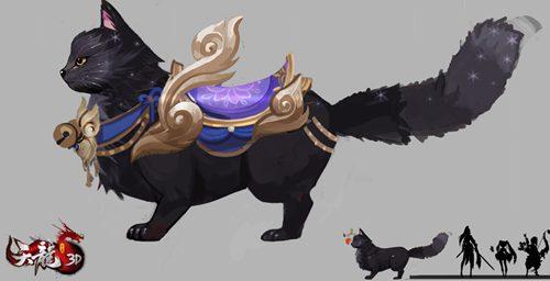 《天龙3D》妖猫设定曝光 不日妖猫坐骑即将揭晓