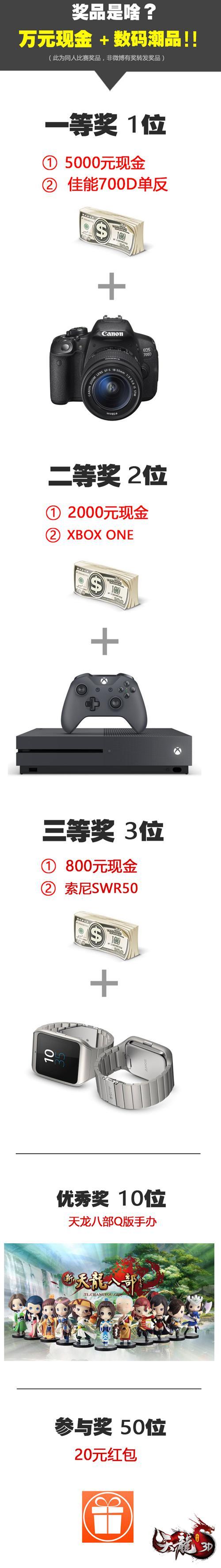 《天龙3D》赞助豪华奖励阵容