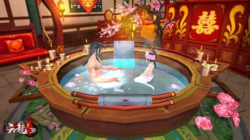 就连在浴缸里,大叔和萝莉看起来也是很配的呢!