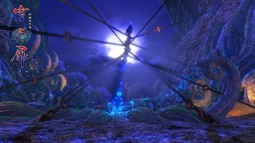 神秘的神器矗立于月光之下,它在等待谁的到来。