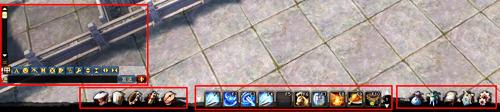 玩家可以鼠标移动上去以后,会有对应的快捷键提示